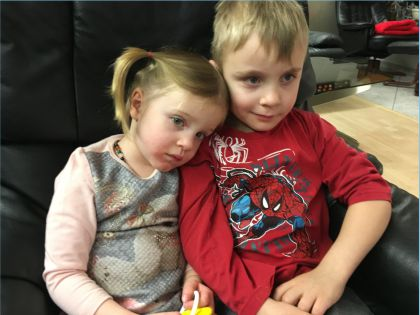 The grandchildren Lenny & Leonie